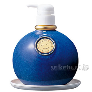 サラヤ 陶器製石鹸液容器MB-500(マリンブルー) 【在庫確認】