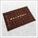 家庭用玄関マット(チョコレート)600×900mm