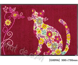 玄関マット Flower Cat