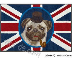 玄関マット British Pug