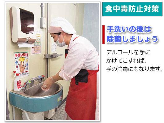 手洗いの後には、除菌アルコルのアルペットEで除菌しましょう!